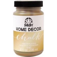 FolkArt Home Decor Chalk Paint 8 oz- Metallic Gold