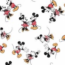 Mickey Bolted Fabric- Mickey & Minnie Toss