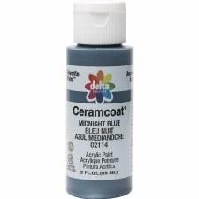 Delta Ceramcoat Acrylic Paint, 2oz- Blues: Midnight Blue