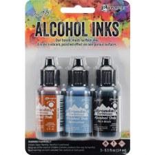 Ranger Alcohol Ink 3 Pack- Miner's Lantern