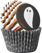 Halloween Baking Cups, Mini- Ghosts 100ct