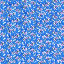 Panda Sanctuary Bolted Fabric- Floral Blue