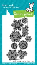 Lawn Fawn Craft Dies- Mini Snowflakes