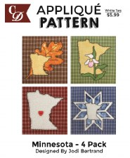 Applique Pattern, 4pk- Minnesota
