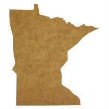 "Minnesota MDF Cut Out- 12"""