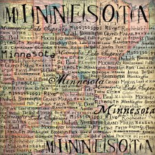 Minnesota 12x12 Paper- Map