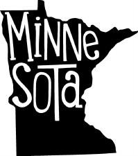 """""""Minnesota"""" Shape & Name Vinyl"""