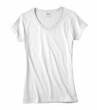 Women's V-Neck - White, Small