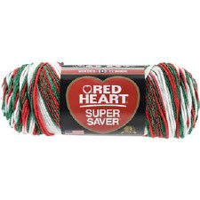 Red Heart Super Saver Yarn- Mistletoe