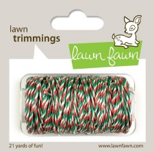 Lawn Fawn Trimmings Cord- Mistletoe