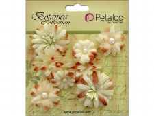 Botanica Mixed Blooms Minis Embellishments- Cream