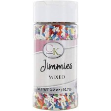 Jimmies Sprinkles, 3.2oz- Mixed Colors