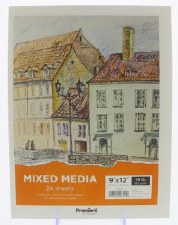 "Premiere 9x12"" Mixed Media Paper Pad, 15 Sheets"