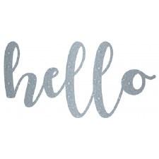Mix the Media Galvanized Word- Hello, Small