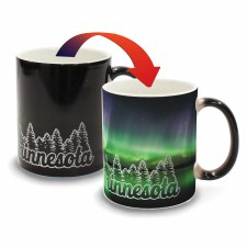 Minnesota Color Changing Mug- Minnesota Pine Trees