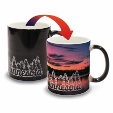 Minnesota Color Changing Mug- Sunset + Pine Trees