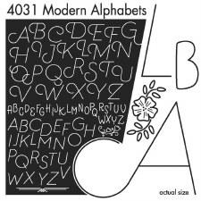 Aunt Martha's Iron On Transfers- Modern Alphabet #4031