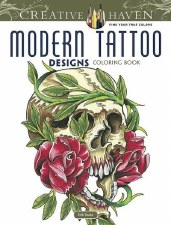 Creative Haven Adult Coloring Book- Modern Tattoo