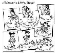 Aunt Martha's Iron On Transfers- Mommy's Litte Angel #3917