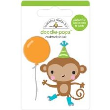 Party Time Doodle-Pops Stickers- Monkey Business