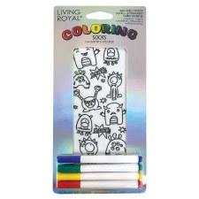 Coloring Socks- Monster Bash