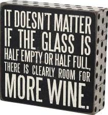 Wood Box Sign- More Wine