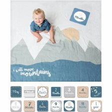 Baby's 1st Year Blanket & Card Set- Move Mountains