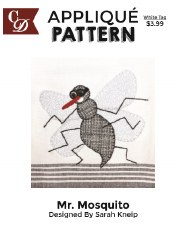 Applique Pattern- Mr. Mosquito
