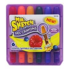 Mr. Sketch Gel Crayons, 6pk