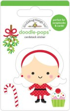 Christmas Magic Stickers, Doodle-Pops- Mrs. Claus