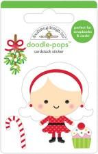 Christmas Magic Stickers, Doodle-Pops- Mrs. Claus