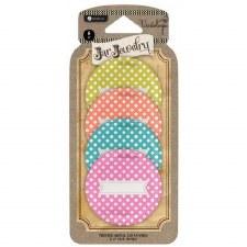 Jar Jewelry Jar Lids, 4pk- Polka Dots