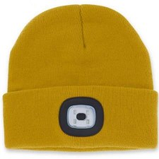 Night Scout Beanie w/ LED Light- Mustard