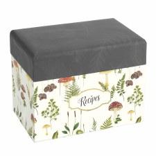 CR Gibson Mushroom Botanical Recipe Box