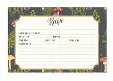 CR Gibson Mushroom Botanical Recipe Cards