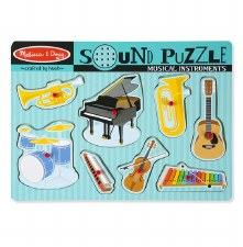 Melissa & Doug Sound Puzzle- Musical Instruments