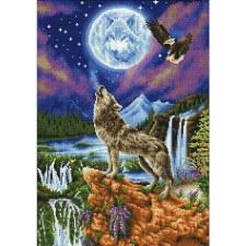 Diamond Facet Art Kit- Mystic Wolf