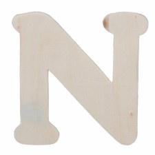"""Wood Letter, 4.25""""- N"""