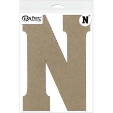 """8"""" Chipboard Letter- N"""