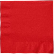 """Touch of Color 6.5"""" Napkin- Classic Red"""