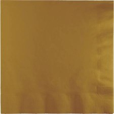 """Touch of Color 6.5"""" Napkin- Glittering Gold"""