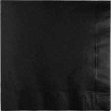 """Touch of Color 6.5"""" Napkin- Black"""