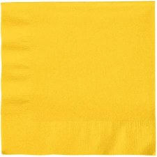 """Touch of Color 6.5"""" Napkin- School Bus Yellow"""