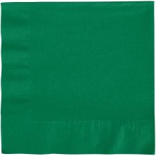 """Touch of Color 6.5"""" Napkin- Emerald Green"""