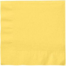 """Touch of Color 6.5"""" Napkin- Mimosa Yellow"""