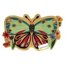 Natrual Fiber Door Mat- Butterfly Cutout