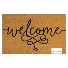 Natrual Fiber Door Mat- Welcome Scroll