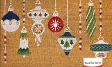 """Natural Fiber Door Mat, 18""""x30""""- Ornaments"""