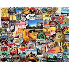 National Park Badges - 1000 piece puzzle