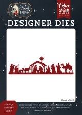 Away in a Manger Designer Dies- Nativity Silhouette